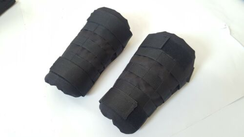 Set of cover for protection elements: forearms Black MOLLE