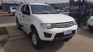 2013 Mitsubishi Triton GLX   Duel Cab Ute TURBO DIESEL 4X4 LOW KM Williamstown North Hobsons Bay Area Preview