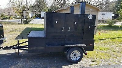 Big Butt Bbq Smoker Grill Insulated Trailer Food Truck Concession Street Vendor