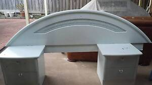 bed head and 2 side tables South Morang Whittlesea Area Preview