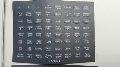 NEW STYLE iS4 SPASIDE REMOTE LABEL 1pc PENTAIR - 522082
