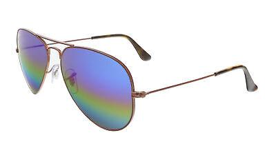 Ray Ban RB 3025 9019C2 Aviator Bronze Rainbow (Colored Ray Ban Aviators)