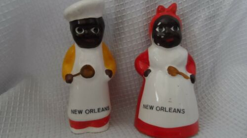 Salt and Pepper Shakers New Orleans Cooks Chefs Americana