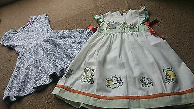 Two Dresses, Girls Aged 18-24months . 1x brand new other excellent cond. Nursery