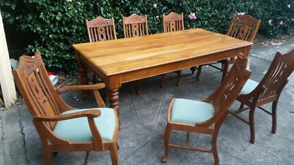 Solid Teak Dining Suit Normanhurst Hornsby Area Preview