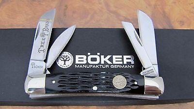 Knife - Boker (Tree Brand) Jigged Black Bone CONGRESS Knife (Germany) - New 110722