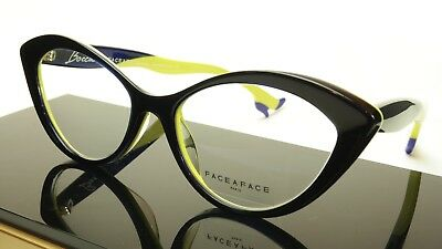 Face A Face Bocca Tatoo 1 Col. 2115 Ink Blue Anis Yellow Eyeglasses Italy (Made Glasses)