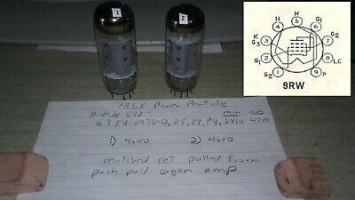 NOS Matched Pair General Electric 6T9 Triode Pentode Vacuum Tubes