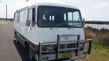 Toyota Coaster Motorhome, AUTO LPG V8,hot water,shower,see VIDEO Upwey Yarra Ranges Preview