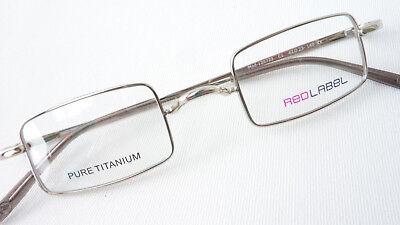 Titan Gestell Brille Gläser klein eckig nickelfrei Red Label ohne Stege Grösse M