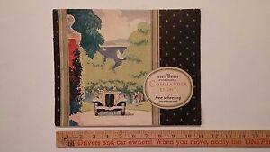 1931-STUDEBAKER-034-Commander-8-034-Color-Dealer-Sales-Catalog-Brochure-Good-US