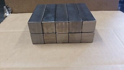 Blacksmith Hardy 10 pieces 1 inch by 4 inch Square Stock Steel- forge-anvil