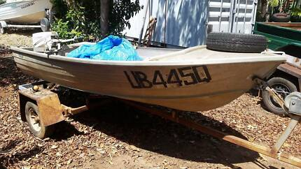 Tinnie & Outboard on Trailer $1100