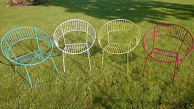 Vintage Repro Atomic 1950s Designer Metal Home or Garden Patio Table & Chairs
