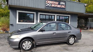 2004 Honda CIVIC AUTO! CERTIFIED ETESTED  $2499+taxes