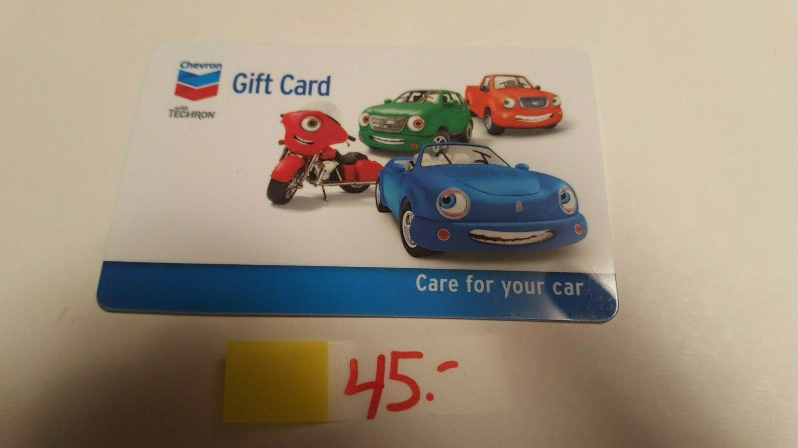 45 CHEVRON / TEXACO Gas Gift Card - No Expiration Date Can Be Used At Either  - $41.11