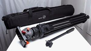 Sachtler DV2 II Fluid Head 8lb.max 75mm Tripod System use w/ arri vinten miller