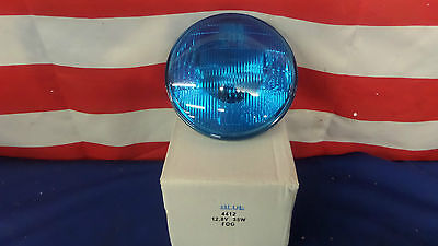New 4412B Par46 Sealed Beam Bulbs 12 Volt 35 Watt Blue American LaFrance ALF