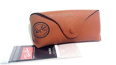 Ray Ban Brown Leather Sunglasses Case Only With cleaning Cloth