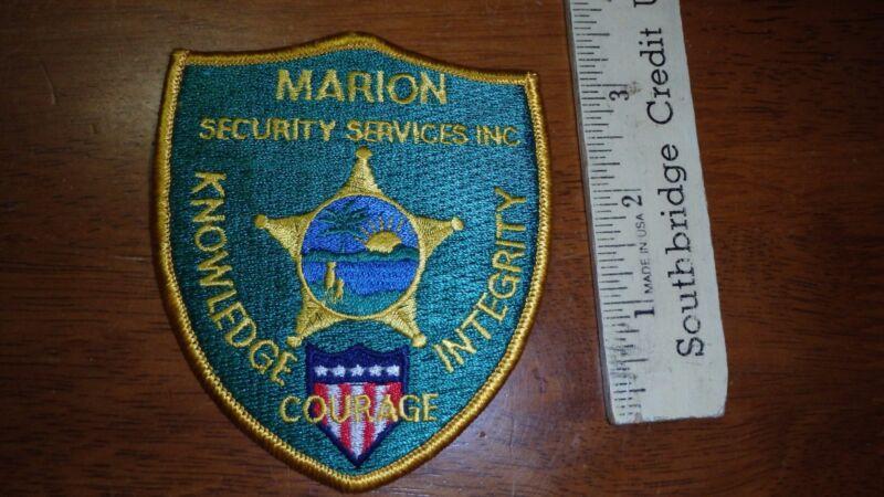 VINTAGE MARION SECURITY SERVICES  OBSOLETE SHOULDER PATCH BX Y #153