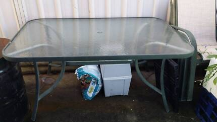 Glass Top Outdoor table Hinchinbrook Liverpool Area Preview