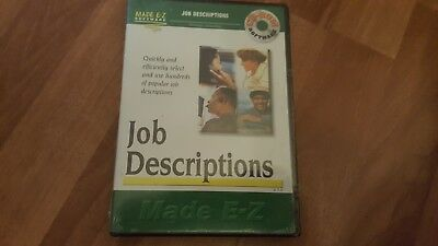 Made Ez Software - JOB DESCRIPTIONS by MADE E-Z SOFTWARE - THE Windows CD-ROM - NEW and SEALED !!!!