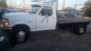 1997 Ford F350 Super Duty DIESEL FLAT BED AUTO WELL MAINTAINED A