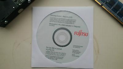 Fujitsu Windows 8.1 Professional 64 Bit Re-installation Repair DVD - Brand New na sprzedaż  Wysyłka do Poland