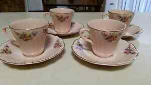 4 tea cup set. Rosa. J & G Meakin. England. Excellent condition Salisbury South Salisbury Area Preview