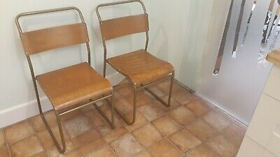SEBEL & CO NEST-A-BYE Vintage steel and beech ply stacking chairs £15 EACH