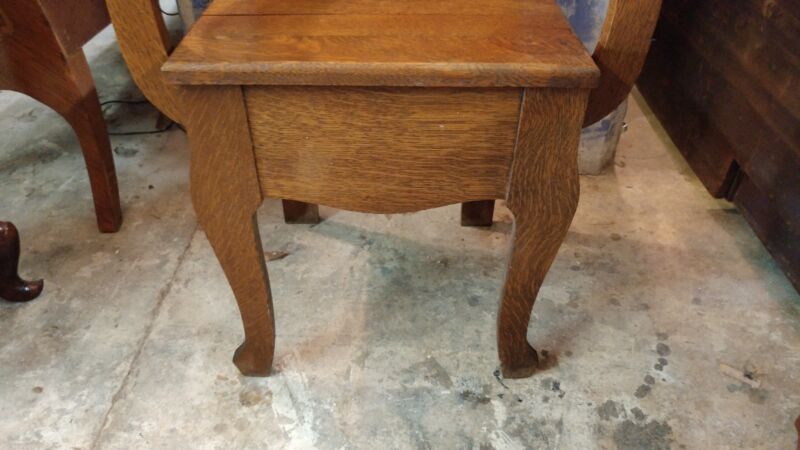 Antique Oak Hall Tree Victorian Hall Seat Bench Ornate - Excellent Condition