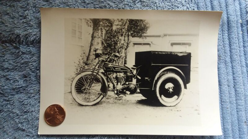 1928 New Era Motorcycle orginal photo with delivery bed