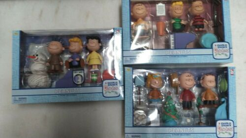 Charlie Brown Christmas Peanuts Figures Complete Set of 3 Brand New
