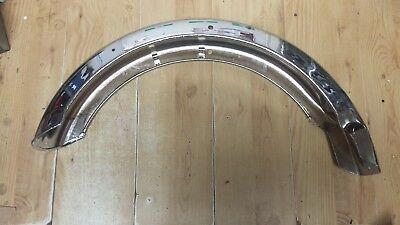 TRIUMPH TR7 T140 BONNEVILLE CHROME REAR MUDGUARD FENDER 1982   83 8030