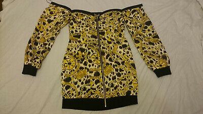 H&M MOSCHINO Dress Off The Shoulder Ladies Jeremy Scott EUR 40 UK 12