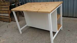 Rustic kitchen island/ bar table with storage made to order