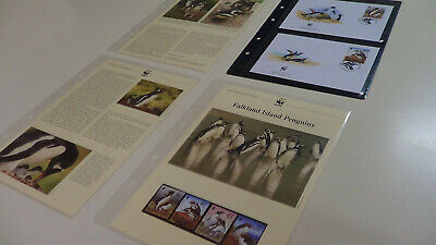2002 Falkland Islands WWF stamps and first day covers with penguin information.