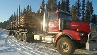 Wanted Experienced Log Hauler to clear $7,000-$10,000 per month