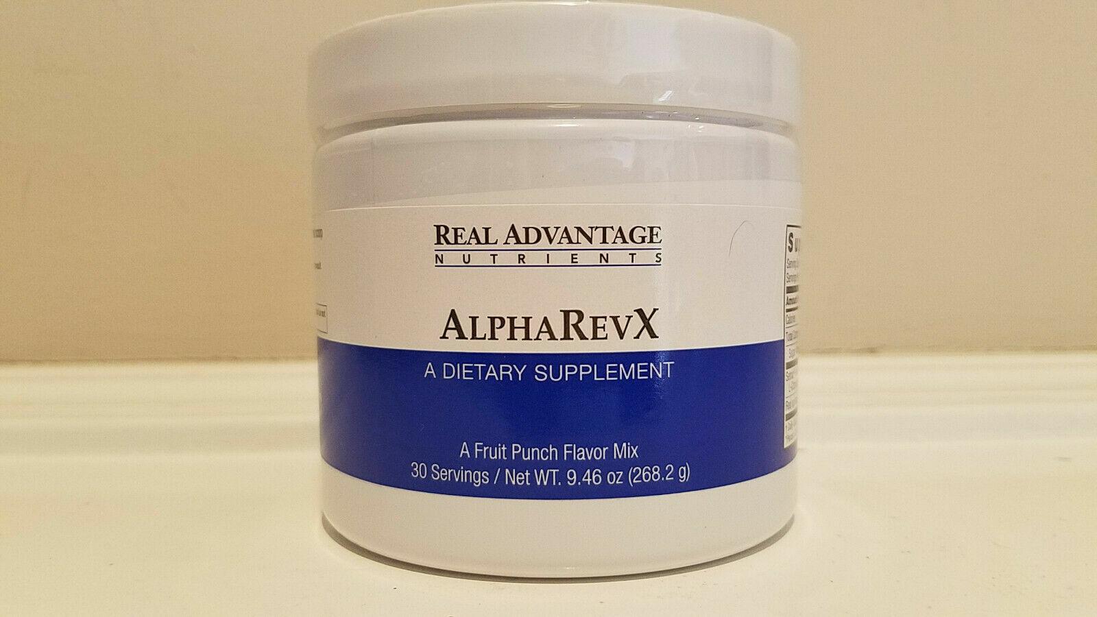 AlphaRevX Male Performance Mix Real Advantage * 30 serv 9.46 oz NEW Exp 10/2020