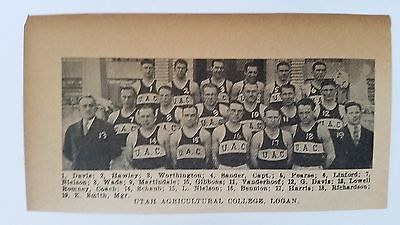 For sale Utah Agricultural College Logan 1927-28 Basketball Team Picture