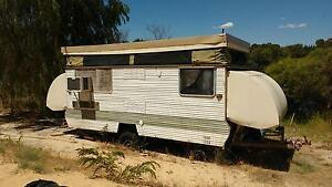 caravan Cabana oldie lic but used on build site Myalup Harvey Area Preview