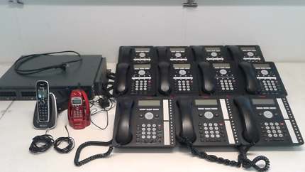 AVAYA OFFICE PHONE SYSTEM WITH 11 HANDSETS + 2 CORDLESS HANDSETS