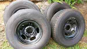Toyota 80 series rims and tyres landcruiser Birkdale Redland Area Preview