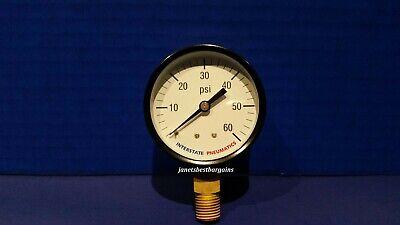 Air Compressor Pressure Gauge 14 Brass Npt Bottom Mount 60 Psi 2.5 Black Case