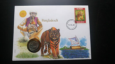 """RARE BANGLADESH 1992 """"ONLY 100 ISSUED"""" COIN STAMP """"COLLECTOR'S EDITION"""" COVER"""