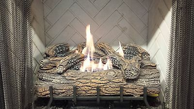 - Vent-Free Logs, Monessen Charred Hickory, Manual Control, 24 inch, Nat Gas