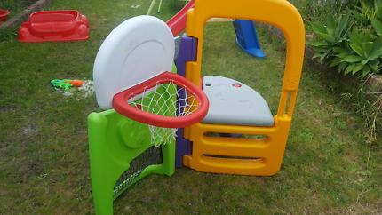 Little Tikes slide, soccer & basketball climber