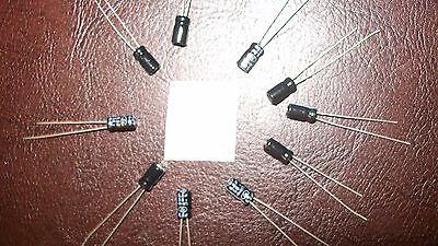 6.8 Uf Electrolytic Capacitors 50v Lot Of 10 Usa Seller