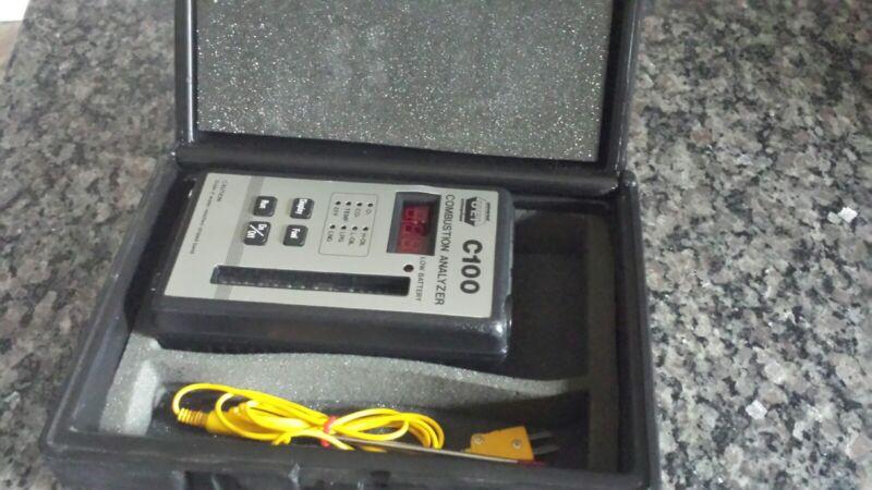 UEi C100 Combustion Analyzer w/ Probe in box
