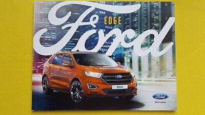 Ford Edge Zetec Titanium Sport car brochure sales catalogue January 2017 MINT